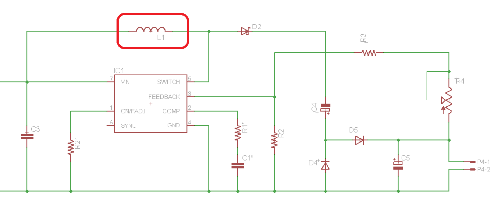 Simpler 'boost' topology circuit -takes an off-the-shelf inductor!