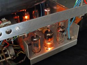 Heathkit Oscilloclock - tubes lit