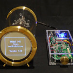 2013 luxury edition Model 1-S scope clock from Oscilloclock.com