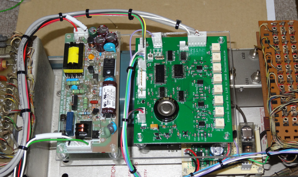 Tek 520A VectorClock - Control Board mount and cabling