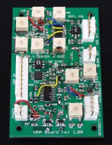 Oscilloclock VGA Board prototype