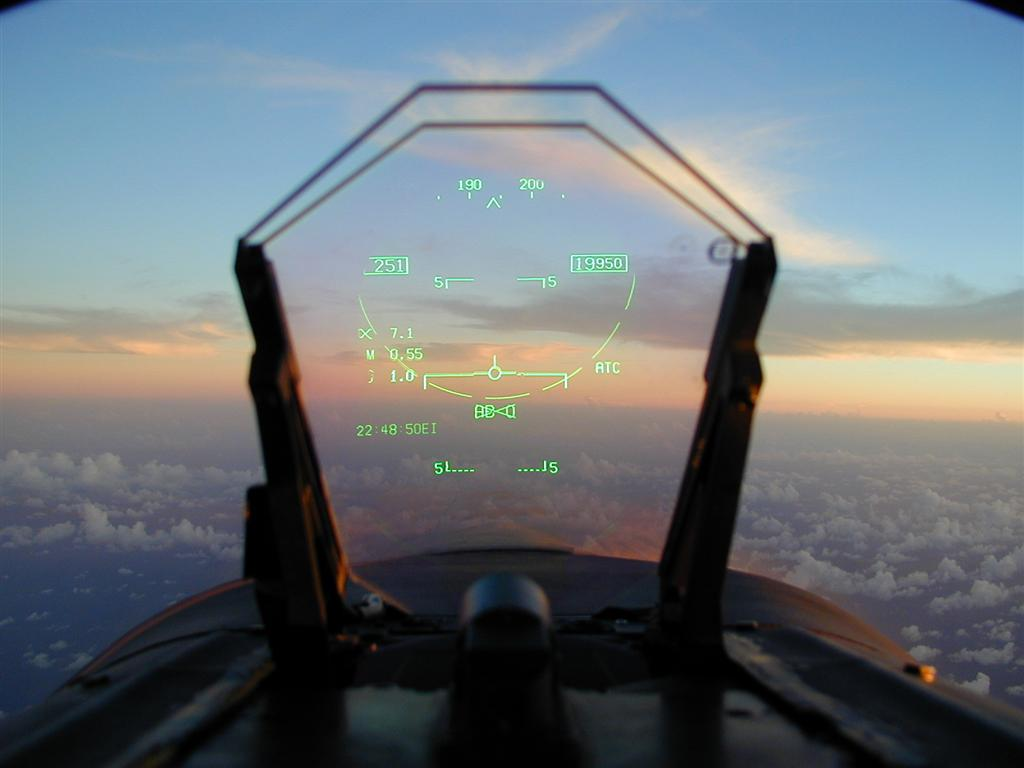HUD in an F-18 aircraft. Source: AC Aviation Life