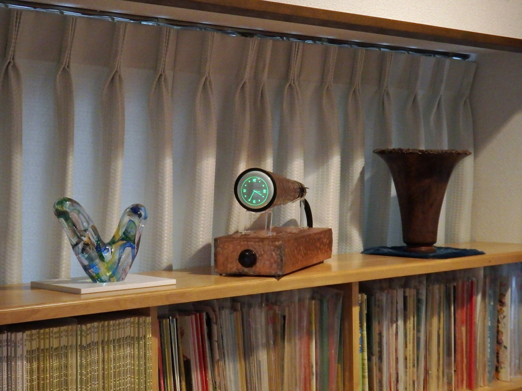 CopperClock on shelf 01
